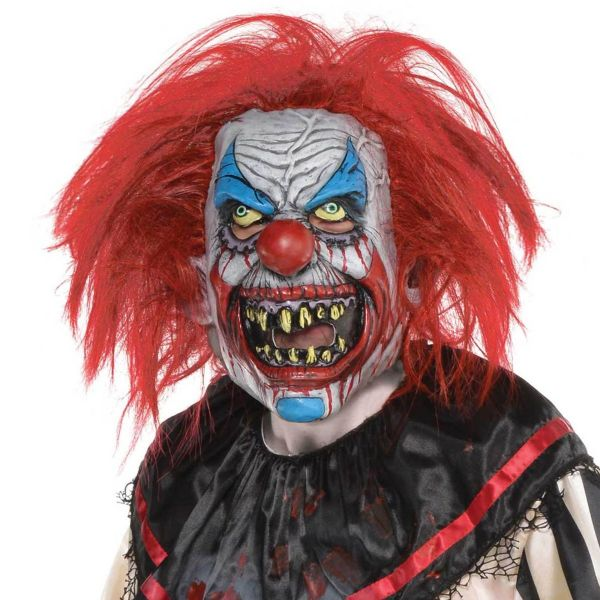 Latex Slashed Clown Mask